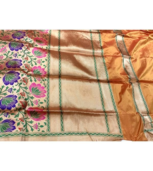 Banaras katan silk zari saree with blouse