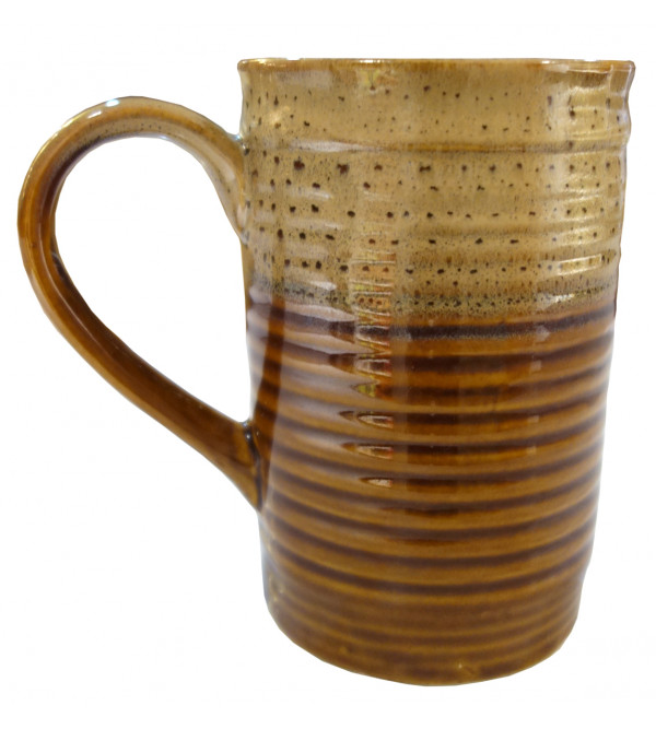 Khurja Pottery Double Glazed Beer Mug Size 5x3.5 Inch
