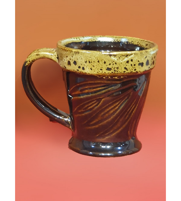 COFFEE MUG POTTERY 9.5CM