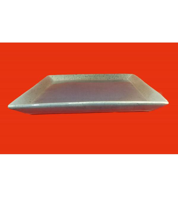 Khurja Pottery square Plate Size 10 Inch