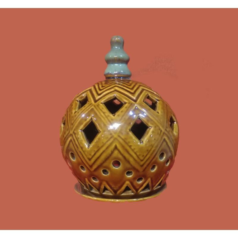 Khurja Pottery Round Light Holder Size 8 Inch