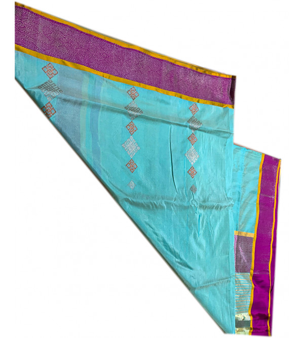 banaras silk zari borderHANDLOOM SAREE with blouse
