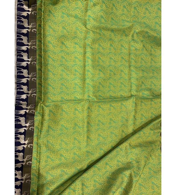 Banaras silk zari border saree with blouse