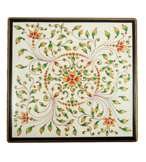 Handicraft Painted Wood Box Jaipur Style 10x10x3 INCH