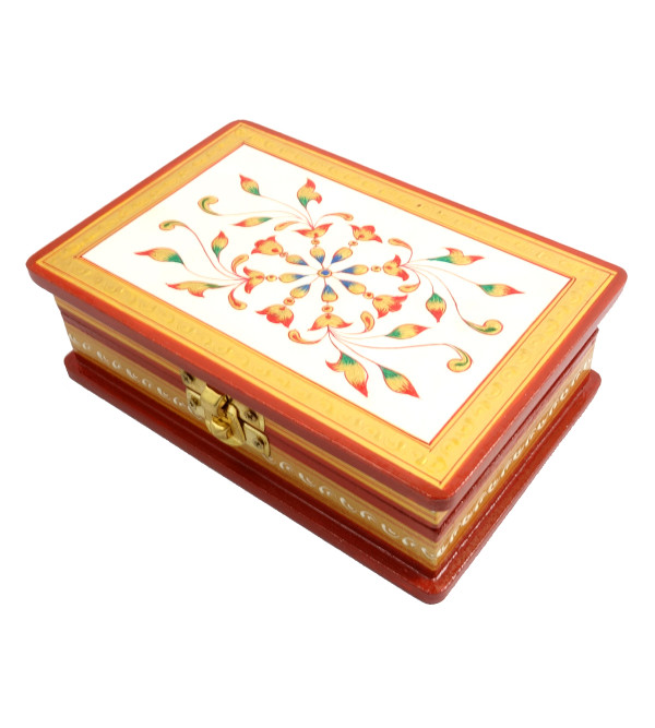 Handicraft Painted Wood Box Jaipur Style 6x4x2 INCH