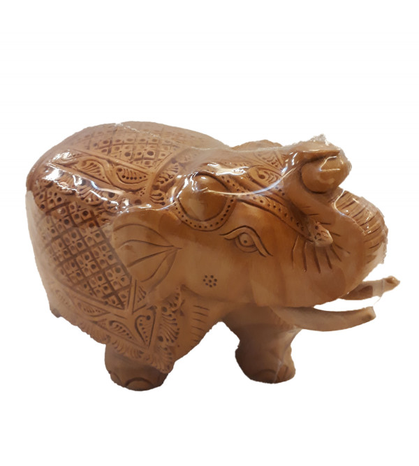 ELEPHANT CARVED 4 INCH