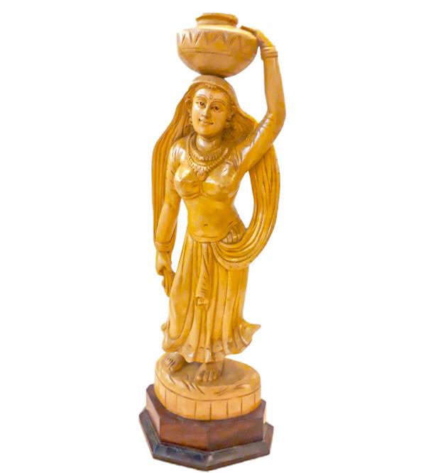 Kadamba Wood Handcrafted Standing Ajanta Figure