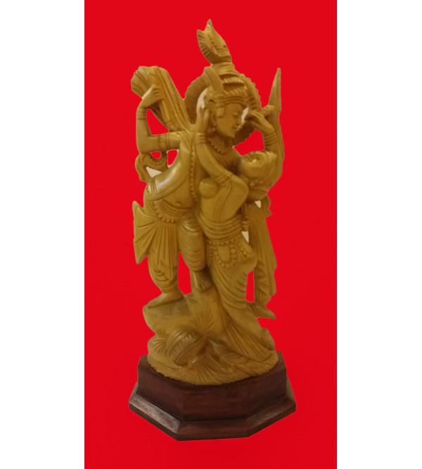 Kadamba Wood Handcrafted Carved Radha Krishna