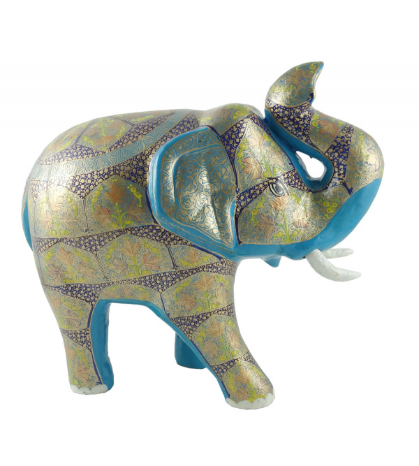 PAPER MACHE ELEPHANT 10 INCH ASSORTED DESIGN