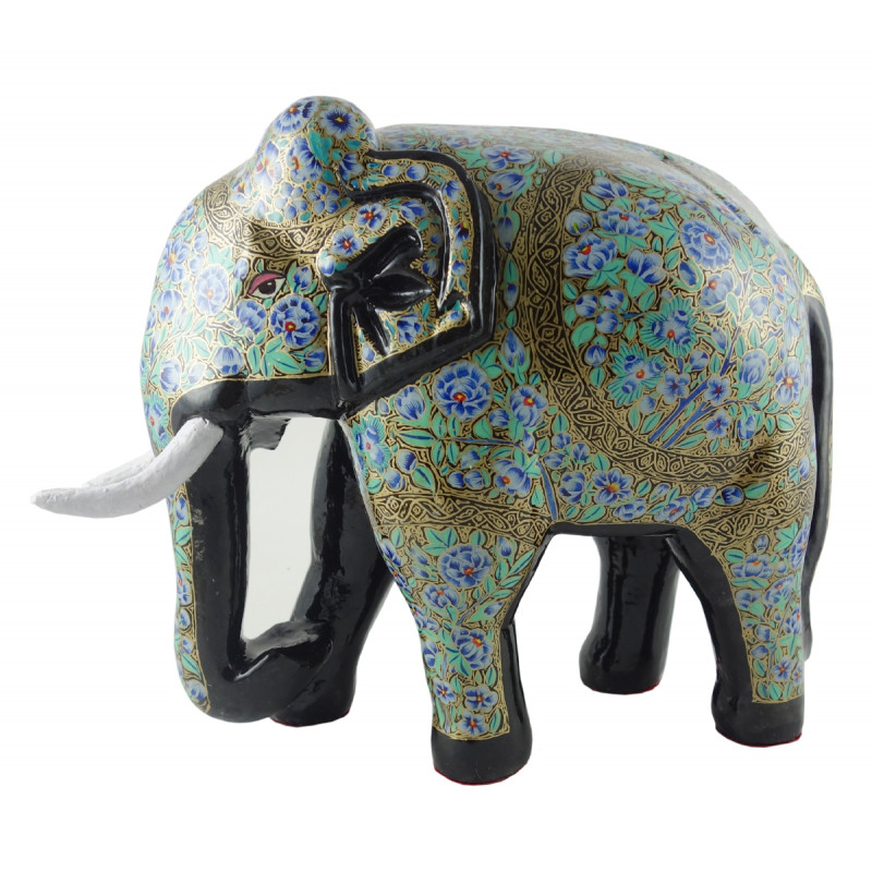 PAPER MACHE ELEPHANT 12 INCH ASSORTED DESIGNS