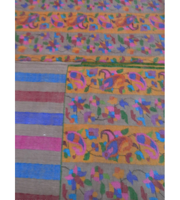 Pashmina Kani Shawl Hand Embroidered in Kashmir Size,40X80 Inch