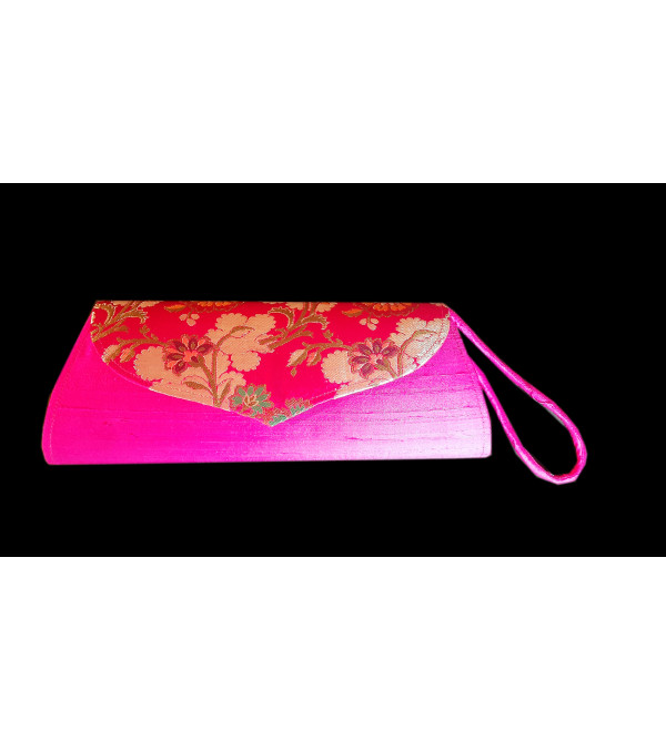 CCIC Silk Evening Bag With Assorted Designs Size 10x5 Inch