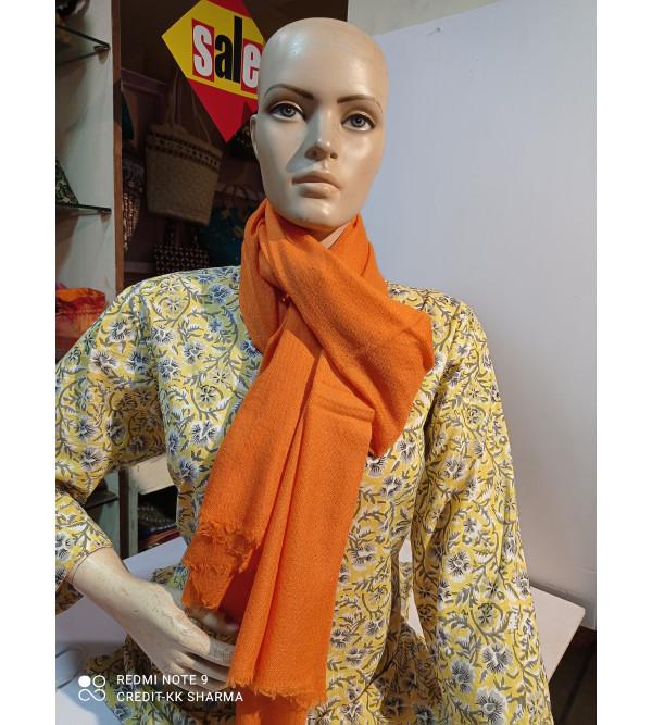 Cashmere Pashmina Stole Handwoven in Kashmir Plain Size ,28X80 Inch