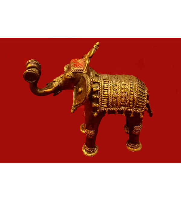 Dhokra Handcrafted Elephant Size 6 Inches