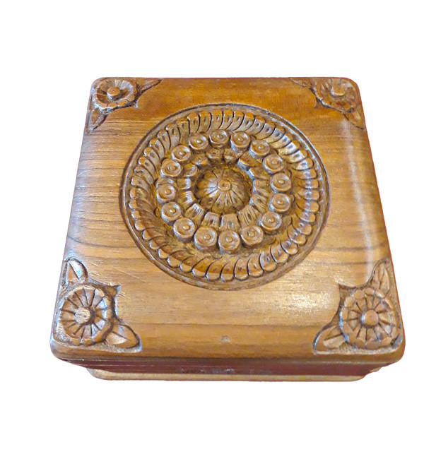 Walnut Wood Handcrafted Carved Box