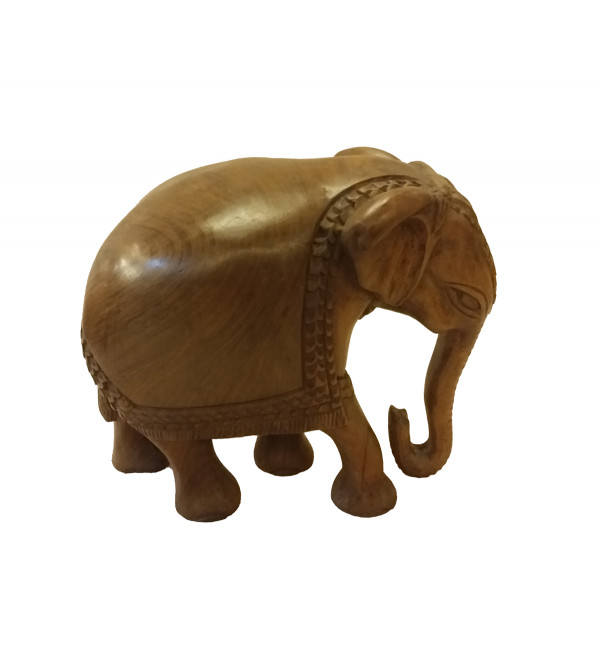 Walnut Wood Handcrafted Elephant