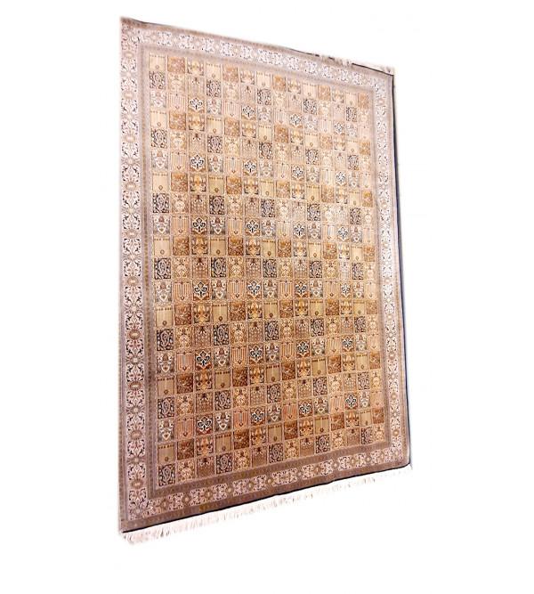 Kashmir Carpet Hand-knotted Silk x Silk Size 6ftx9ft