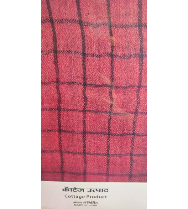 Pashmina Stole Handwoven in Kashmir Check Size ,28X80 Inch