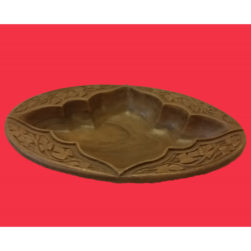 Walnut Wood Handcrafted Carved Bowl