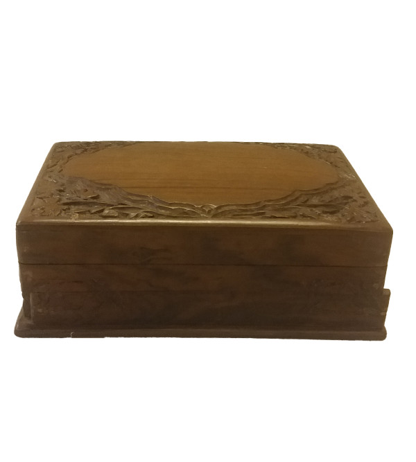 BOX WALNUT POSHKAR 8X5 CARVED