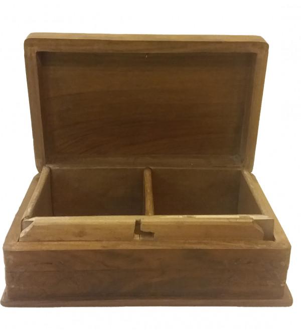 BOX WALNUT POSHKAR 8X5 CARVED