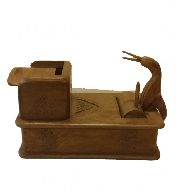 Walnut Wood Handcrafted Cigarette Stand / Box