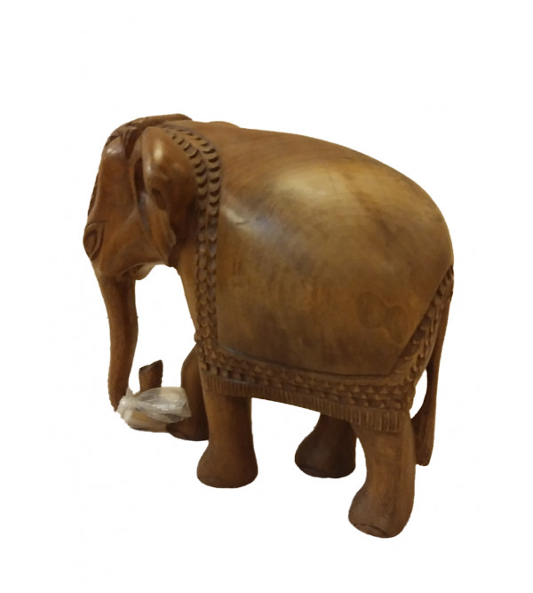 ELEPHANT 8 INCH walnut wood
