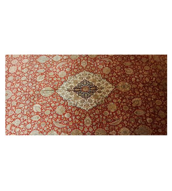 Kashmir Carpet Hand-knotted Silk x Silk Size 9ftx12ft
