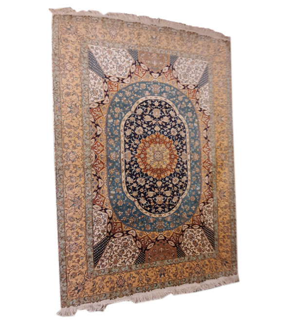 Carpet Hand-knotted Silk x Silk Size 5ftx7ft