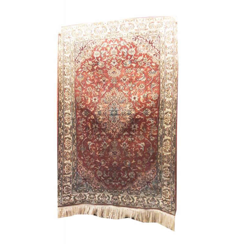 Kashmir Carpet Hand-knotted Silk x Silk Size 2ftx3ft