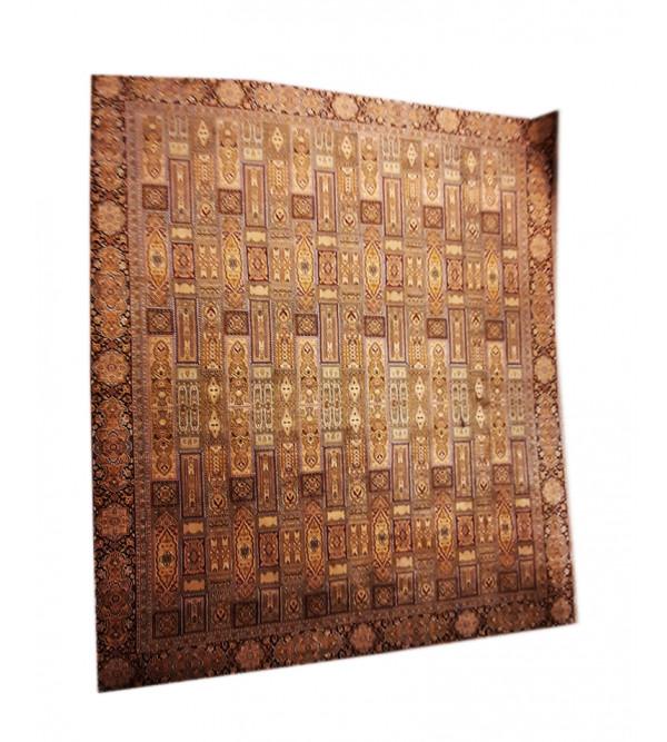 Kashmir Carpet Hand-knotted Silk x Cotton Size 9ftx12ft