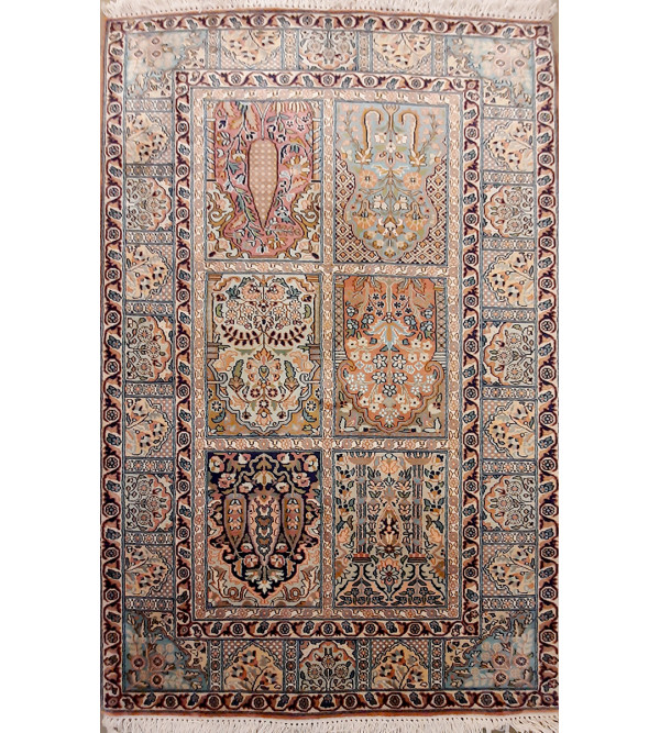 CARPET SILK  COTTON 3X5' 18X18 BLUE BASE