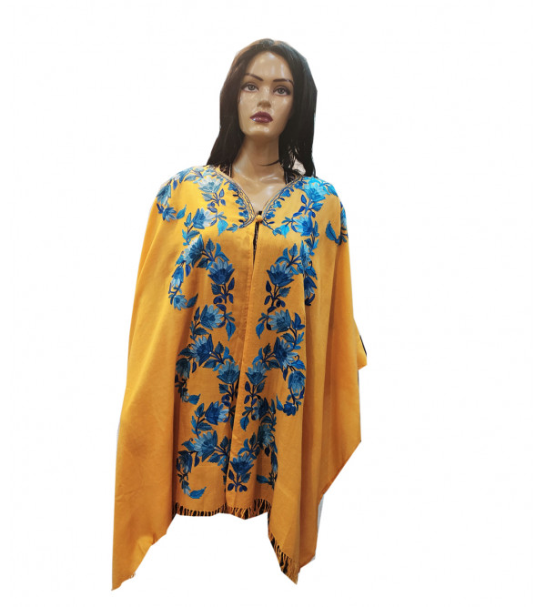 CAPE WOOL KASHMIR EMBROIDERY ASSORTED