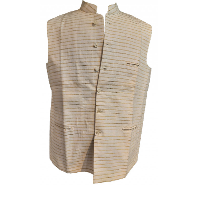 Cotton Plain Nehru Jacket size 44 Inch