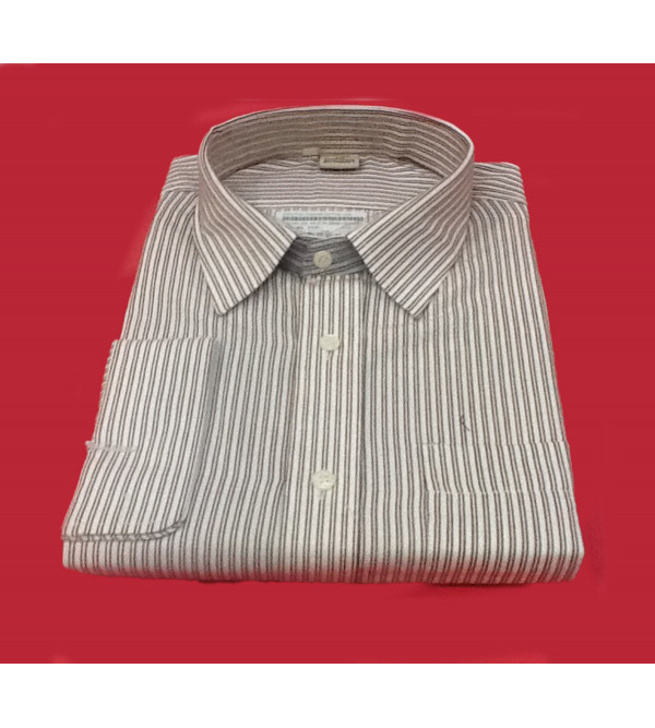 Cotton Stripe Shirt Full Sleeve Size 48 Inch