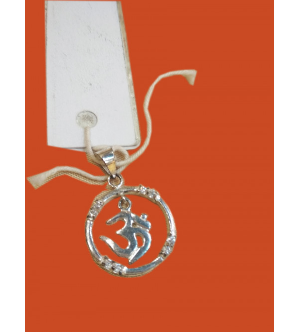 Om Silver Pendent