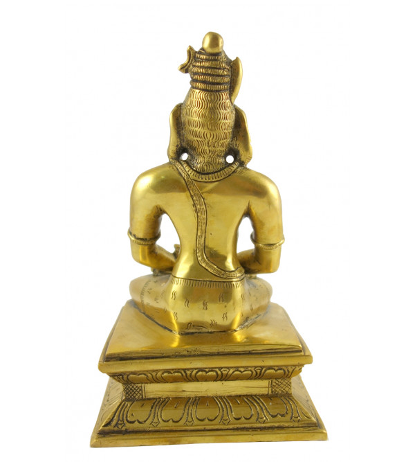 HANDICRAFT BRASS  SHIVA SITTING 9 INCH