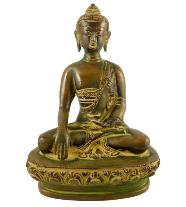 HANDICRAFT BRASS BUDDHA 8 INCH