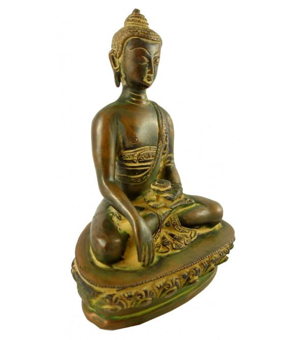 HANDICRAFT BRASS BUDDHA 8 INCH