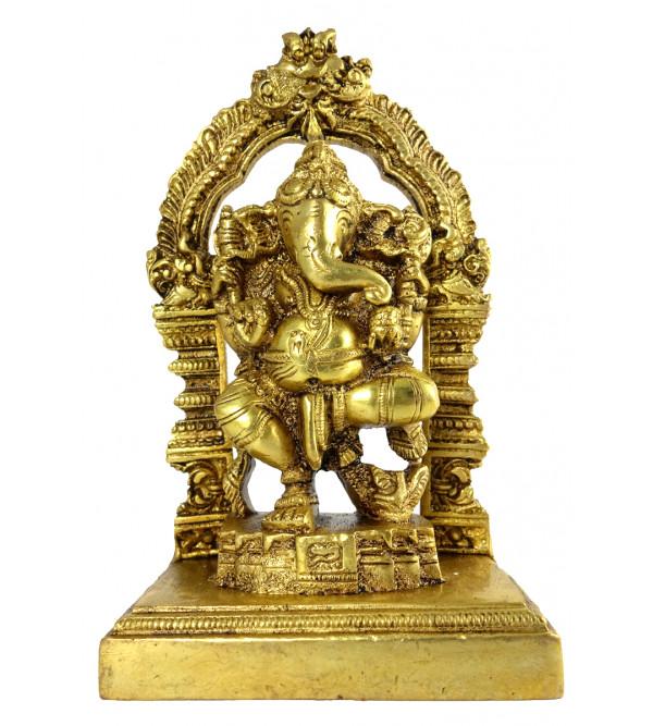 HANDICRAFT BRASS Ganesh dancing prabhawal 6 INCH