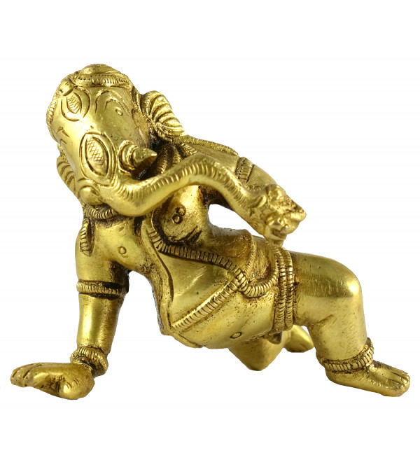 HANDICRAFT BRASS BABY GANESH 4 INCH