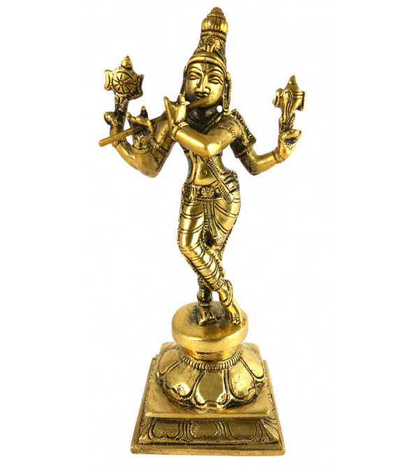 HANDICRAFT BRASS KRISHNA 7 INCH