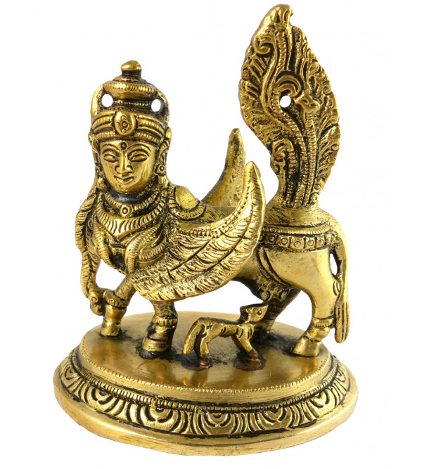 Kamdhenu Handcrafted In Brass Size 4 Inches