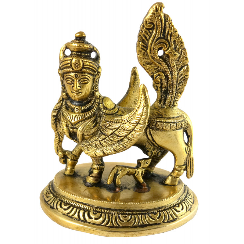 HANDICRAFT BRASS KAMDHENU 4 INCH