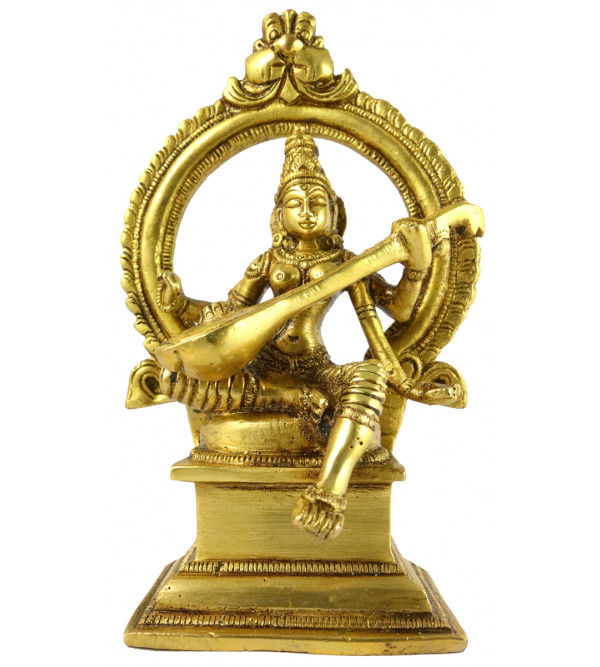 HANDICRAFT BRASS Saraswati Prabhawal