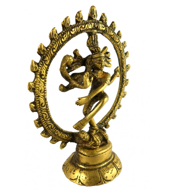 HANDICRAFT BRASS NATRAJA SINGLE ARCH 4 INCH
