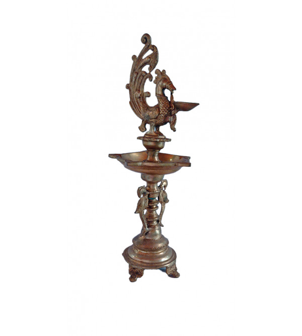 Oil Lamp Handcrafted In Brass