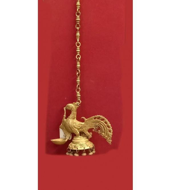 Hamsa Diya Chain Handcrafted In Brass