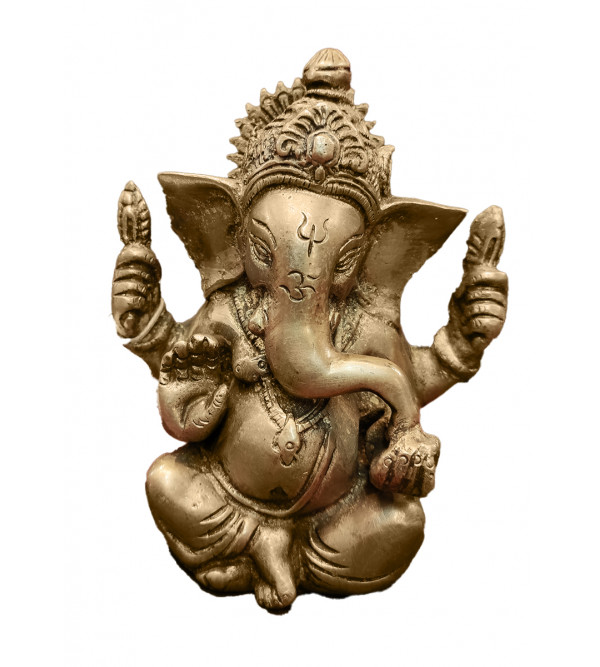 BRASS CROWN GANESH 4.5INCH Assorted colours