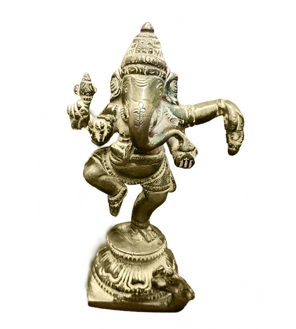 BRASS GANESH DANCING 4INCH Assorted colours